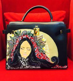 hermes bag sale - Hand painted Hermes herbag by artist love Marie aka heart ...