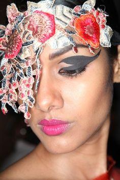 Dramatic eyeliner at the Sanchita show. #makeup #beauty #southasian