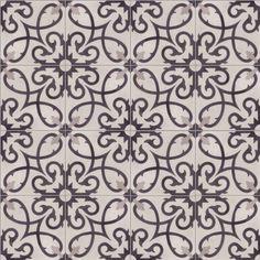 Portugese cementtegels Curlz White | FLOORZ