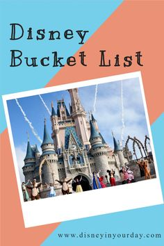 What's on your Disney bucket list? Here are over 60 ideas of things you might want to do in the theme parks, cruises, and more! Disney World Packing, Disney World Tickets, Disney Cruise Tips, Disney World Florida, Walt Disney World Vacations, Disney On A Budget, Disney Planning, Best Vacation Spots, Disney Fanatic