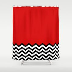 Black Lodge Dreams (Twin Peaks) Shower Curtain by Welcome to Twin Peaks Cool Shower Curtains, Dream Shower, Swing Dancing, Red Rooms, Contemporary Classic, Twin Peaks, Classic House, Just In Case, Flats