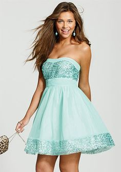 Sequin Trim Dress, this would be really for graduation too!
