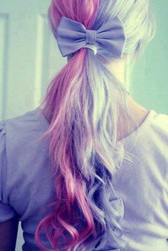 Colored Pony tail