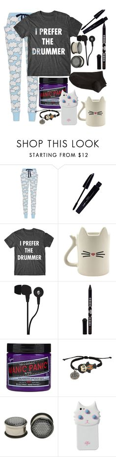 """Lazy Day."" by hold-on-til-may ❤ liked on Polyvore featuring L'Oréal Paris, Skullcandy, Anna Sui, Manic Panic NYC, Hot Topic, Valfré and Wolford"