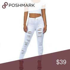 Parkers White Destroyed Jeans Various sizes available, made in the US, US sizing, Brand New with Tags,  reasonable offers are considered, for example please don't ask me to go below wholesale price, that would be unreasonable & unfair. Parker Jeans