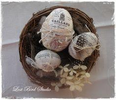 Vintage Inspired Easter Eggs