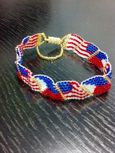 Peyote US/Filipino Wavy Flag Bracelet for my SIL