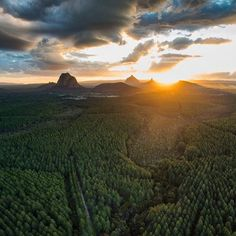 Glass House Mountains. Photo: Snap Air.