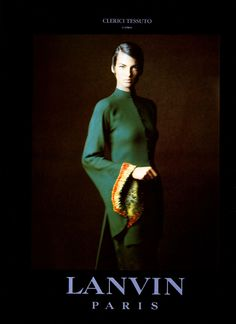Linda Evangelista photographed by Paolo Roversi - Lanvin Ad Campaign: Spring/Summer 1992