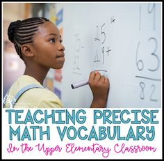 Teaching With a Mountain View: Teaching Precise Math Vocabulary