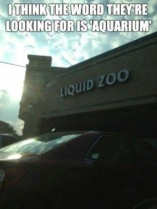 Liquid zoo aquarium clean funny