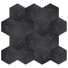sf Merola Tile Gaudi Hex Black in. Porcelain Floor and Wall Tile sq. / - The Home Depot Gaudi, Ceramic Subway Tile, Hex Tile, Tiling, Wall Installation, Chic Bathrooms, Decorating Bathrooms, Wall Patterns, Stone Tiles