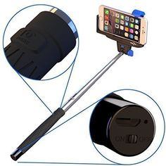 Selfie Stick For iPhone,Android STICKITPRO,Self Portrait Monopod With Built-in Bluetooth For iPhone 6,6S,5s 5c 5 4s 4 ,Samsung Galaxy StickItPro