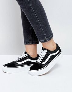 07fd9d55b22 Vans Old Skool platform sneakers in black and white