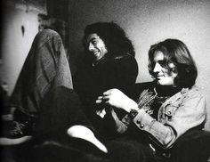 Jimmy Page and John Paul Jones.