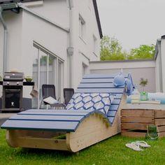 Outdoor Furniture Plans, Outdoor Garden Furniture, Diy Pallet Furniture, Outdoor Decor, Furniture Storage, Outdoor Living, Diy Terrasse, Woodworking Projects Diy, Teds Woodworking