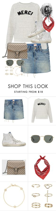 """""""Untitled #3350"""" by angieswardrobe ❤ liked on Polyvore featuring Mother, Whistles, Golden Goose, Ray-Ban, Gucci, Yves Saint Laurent, Alinka, Miss Selfridge and Jennifer Meyer Jewelry"""