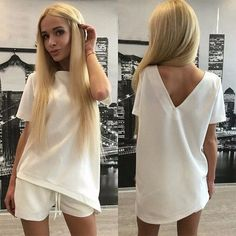 Summer Russia Hot Sale Women Casual Suits Short Sleeve Irregular Tops&Shorts Sexy Dress Sets Plus Size Women's Clothing Y0559