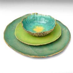 green - bowls - plates