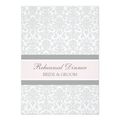 Pink Gray Damask Rehearsal Dinner Party