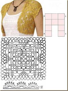 Large Wheat Motif Pattern Bolero PRECIOSO*++++++++++++++++++++************