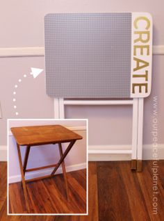 Make This Easy Portable DIY Lego Table From An Old TV Stand.