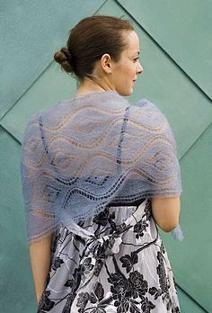 3. Seascape lace shawl - This is a beautiful summer project that you can wear right away with all of your pretty summer dresses.