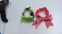 Como elaborar Coleta con flor kanzashi en cinta o tela para decorar pein...