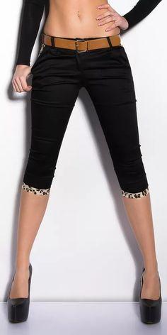 Capri kalhoty s páskem Bermuda Shorts, Capri Pants, Women, Fashion, El Paso, Moda, Capri Trousers, Women's, Fashion Styles