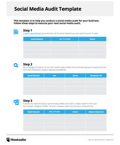 Social Media Audit Template 1