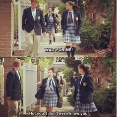 """Wait for me! Not you, I don't even know you."" Lily from The Princess Diaries"