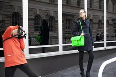 How to wear neons from the streets of London, Milan and Paris. #Harrods #Streetstyle. Read more at #TheReview