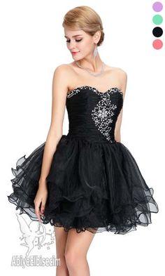 kısa abiye elbise  strapless dekorasyonlu ,abiye elbise,kısa abiyeler,uzun abiye,online abiye,ucuz abiye