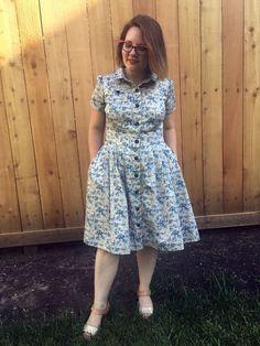 A Novelty Print Shirt Dress | zilredloh