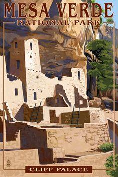 Mesa Verde National Park, Colorado - Cliff Palace - Lantern Press Poster http://www.lanternpress.com/catalog/item/40894?from=612