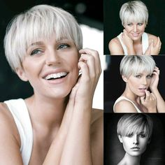 Short Pixie Haircuts, Short Hairstyles For Women, Short Hair Cuts, Straight Hairstyles, Short Hair Styles, Curly Pixie Hairstyles, Bob Hairstyle, Wedding Hairstyles, Short Hair Back View