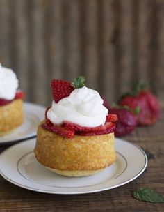 This homemade strawberry shortcake recipe takes one bowl, no mixer and makes a light, fluffy dessert--give up on those pre-made ones--you'll never go back! Mini Desserts, Easy Desserts, Delicious Desserts, Homemade Strawberry Shortcake, Strawberry Recipes, Strawberry Summer, Cupcakes, Cupcake Cakes, Mini Cakes