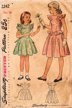années 1940 simplicité 2242 Vintage Sewing par midvalecottage