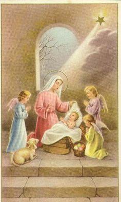 Mother, watching over baby Jesus....