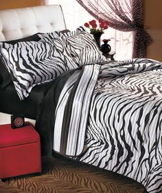 #Zebra #quilt - add some style to your bedroom