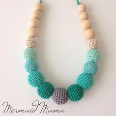 Online Find of the Day.... Crochet teething nursing necklace...