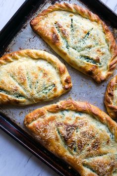Ricotta and Spinach Calzones!