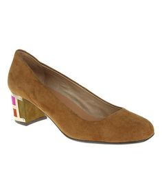 Loving this Caramel Play Suede Pump on #zulily! #zulilyfinds
