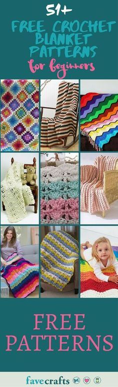 Download these completely free crochet patterns for blankets. From baby blanket patterns to crochet throw patterns, these free afghan patterns are all cute, easy, and adorable.