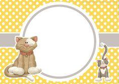 convite aniversário festa tema gatos imprimir grátis
