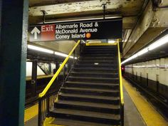 Albemarle Road & McDonald Avenue exit sign
