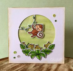 Lawn Fawn - Critters in the  Jungle + coordinating dies _ adorable shaker card by Emma via Flickr - Photo Sharing!