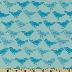 Bliss Flannel Birds Ocean