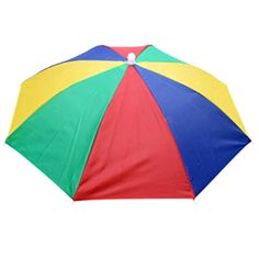 Portable Rainbow Fishing Camping Beach Umbrella Hat Multicolor Cap Umbrella Sun *** Wow! I love this. Check it out now! : Umbrella Racks