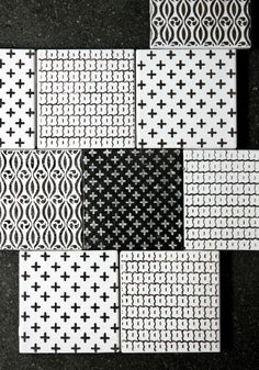 Black/white Tiles with cross
